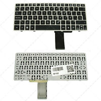 Teclado para portátil HP 2560P Silver Frame Black (Without Point Stick)