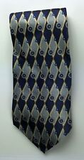 Arnold Palmer Mens Necktie Silk Blue Gray Yellow Tie
