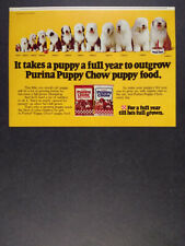 1978 Old English Sheepdog photos Purina Puppy Chow dog food vintage print Ad