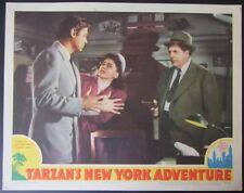 TARZAN'S NEW YORK ADVENTURE~WEISSMULLER~ORIG RELEASE 1942 LOBBY CARD~FINE a