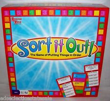 University Games ©2009 SORT IT OUT Fun Party Game COMPLETE & FUN!