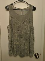 Maurice's XL Floral Sleeveless Flowy Boho Hippie Blouse Polyester