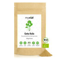 Gotu Kola Pulver Bio 100g | 50-Tage-Vorrat | Centella asiatica | Wassernabelkrau