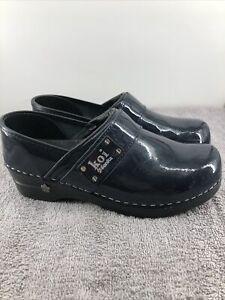Koi By Sanita Black Lindsey Slip On Nursing Clogs Shoes Women's Size 38 US 7.5 8