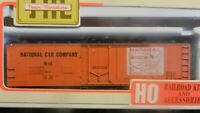 Train Miniature HO National Packing Co 40' Plug Door Steel Reefer Kit, NIB