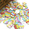 New 50/100/pcs Mix Cake ice cream Wood Buttons Sewing Mix Lots WB254