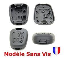 Coque Plip Boitier Télécommande Clé 2 boutons pour Peugeot ou Citroën SANS VIS