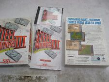 USED STEEL PANTHERS III DOS V6.22,486/66MHZ,16MB RAM,1MB SVGA OR BETTER REQUIRED