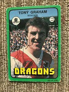 Signed scanlens 1978 - Tony Graham # 40 - St George dragons