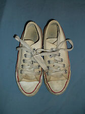 VTG Converse Chuck Taylor sneakers Made USA sz. 2 white low shoes Youth