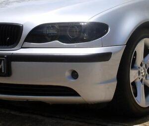 02-05 BMW 3 series (SDN) smoked tinted headlight covers vinyl film 320 325 330