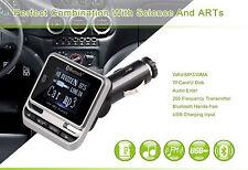 Transmisor FM Reproductor de MP3 Bluetooth Cargador Doble USB  Mando Coche 4242