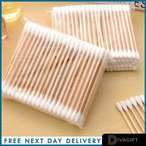 10-1000x Bamboo Cotton Buds Bamboo Natural Zero Waste Makeup ECO Biodegradable