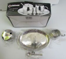 Cuisinox Cream Sugar 5pc Set Stainless Steel Oval Tray SUG-5 Estate Find in Box