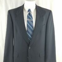 Hart Schaffner Marx Men's 38 R 2 Button Blue Wool Sport Coat Suit Jacket Blazer