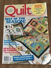 America's #1 Quilting Magazine~QUILT~August/September 2008 #92~Best Of The Seas~