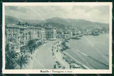 Genova Rapallo Passeggiata a Mare cartolina RT0501