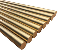Brass Round Rod -2 PIECES- Knife Handle Rivet PIN Mosaic 1mm-5mm, Length 100mm