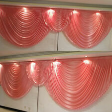 6 M length coral wedding backdrop swags detachable for event party decoration