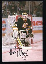 Andy Moog Autographed Boston Bruins Postcard NHL