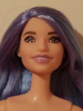 New Nude Tall Barbie Fashionistas #88 Doll  Purple & Blue Hair