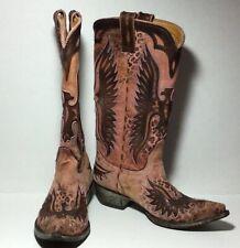 Old Gringo Handmade $620 Elvis Pink Eagle Boots Size 7 EUC RARE