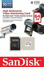 SanDisk Micro SD XC High Endurance Video Monitoring 64GB 64G Class 10 C10 Card