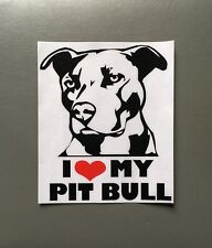 "I Heart My Pit Bull 5.5"" x 6.5"" Bumper Sticker - New - FREE SHIPPING"