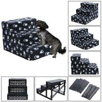 Dog Pet Stairs Steps Indoor Ramp Portable Folding Cat Ladder with Cover #JT1