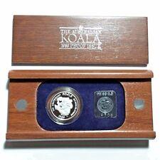 1989 Australia 1/2 oz Proof Platinum Koala $50 Coin ~ Wood Case & COA Ingot