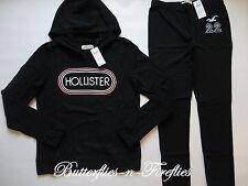 NWT HOLLISTER by Abercrombie 2pc Lounge Set Hoodie Sweatshirt Leggings Black L
