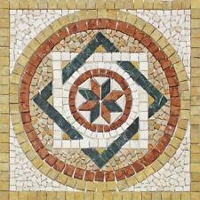 Rosoni rosone mosaico in marmo su rete per interni esterni 66x66 FANTASI GIALLO