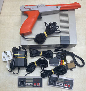 Nes Console With 2 Controllers And Gun