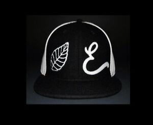Nuevos Con Etiquetas Elm Company Cuero Lana Limitado Ajustada Sombrero Negro