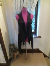 Stunning  All Saints Shadow Gilet Cardigan Black Size 10 Excellent Condition