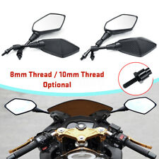 8mm / 10mm Motorcycle Rear View Mirrors Carbon Fiber Shell Scooter Moped E-Bike
