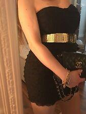 Tally Weijl Party Bandeau Stretchkleid Minikleid Schwarz Rüschen Top XS 32-34