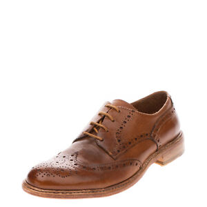 RRP €200 HUNDRED 100 Leather Derby Shoes Size 40 UK 6 US 7 Brogue Made in Italy