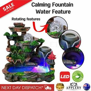 Calming Fountain Water Feature Ornament Home Decor Relaxing Soothing Indoor