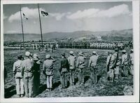 Chinese troops from Burma and China celebrate joining of forces. - 8x10 photo