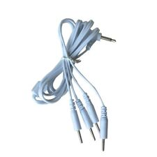 TENS EMS MACHINE ELECTRODE LEAD WIRES CABLE - PROBE CONNECTOR X 4 ENDS - (1629)