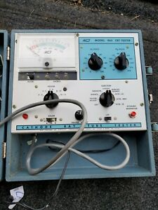 B&K MODEL 465 CATHODE RAY TUBE TESTER W/MANUALS, AND HARDWARE. POWERS UP!