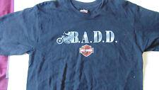 HARLEY DAVIDSON shirt large black L BADD Biker against drunk drivers NYC rare !!
