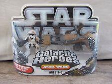 Star Wars Galactic Heroes  Scout Trooper & Speeder Bike  NOC  (916DJ48) 87040