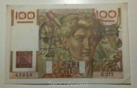 """Billet/banknote. 100 Francs """"Jeune Paysan """" 2-12-1948"""