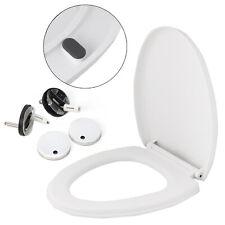 Soft Close Toilet Seat White Bathroom V Shape WC Heavy Duty Seats Anti Slam