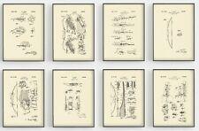 Fred Bear Archery print, Patents. BEAR RAZORHEAD Broadhead, Bow hunting Art x8