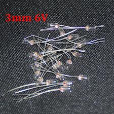 20pcs Edison Miniature 3mm 6v Lamp Bulb Bombilla Incandescent Filament Rice 3mm