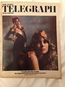 Daily Telegraph Magazine 462 Vintage Biba Jean Shrimpton cover 7 Sept 1973 rare