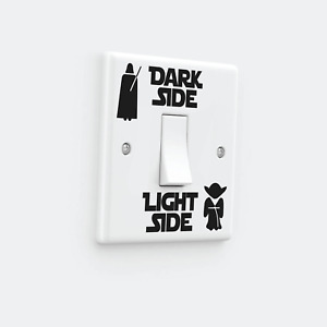DARK LIGHT SIDE Darth Vader Light Switch Removable Vinyl Wall Decal Sticker Home